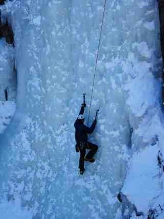 Ice climbing in Big Thompson Canyon