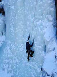 Ice climbing in Big Thompson Canyon