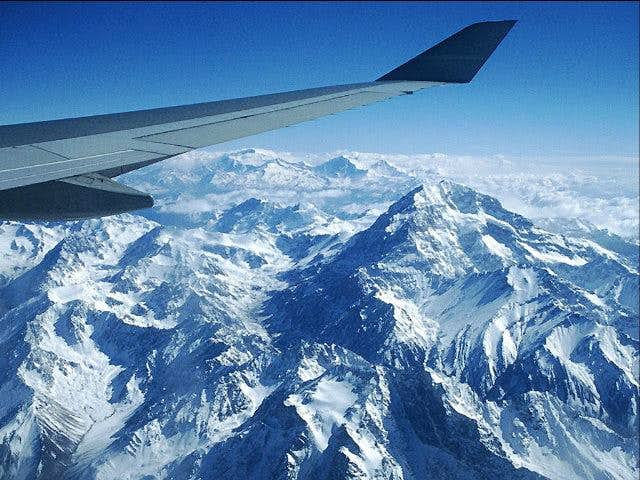 Aconcagua from a jet window...