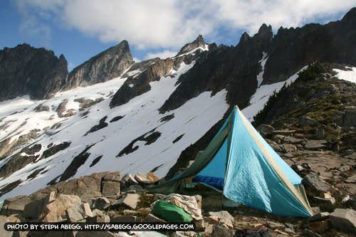 Camp on Chopping Block Ridge