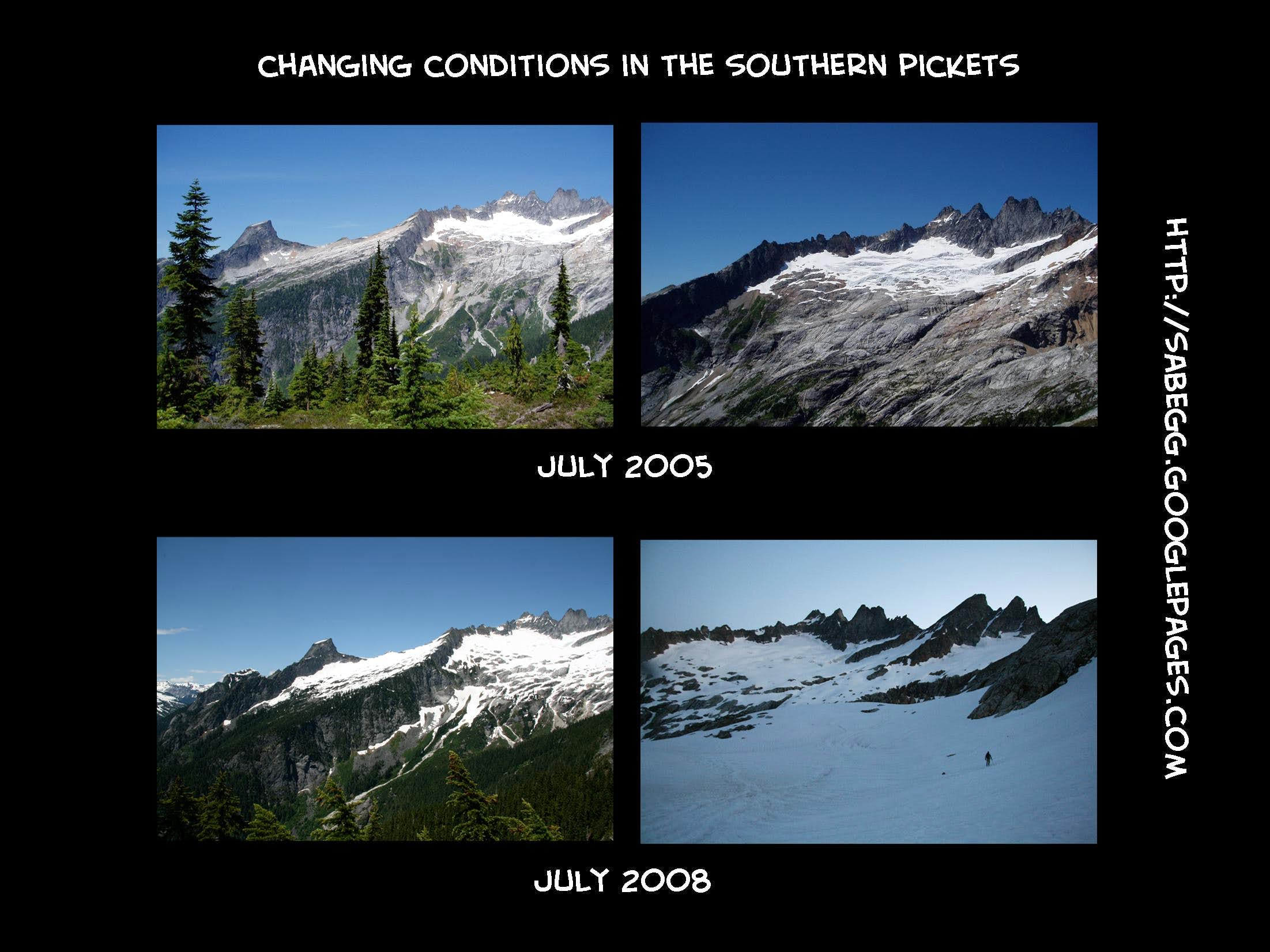 30 years of change in the mountains: photo comparisions