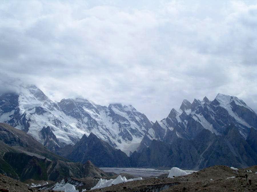 Masherbrum as seen from Baltoro Glacier