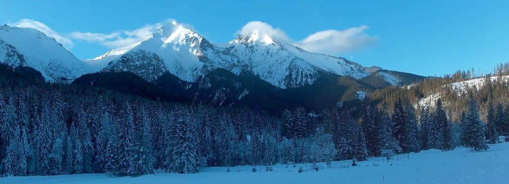 View from Ždiar to the White Tatras