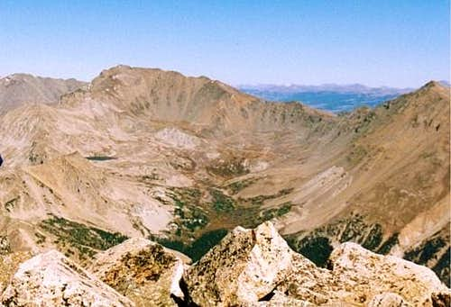 Mount Harvard (center), Mount...