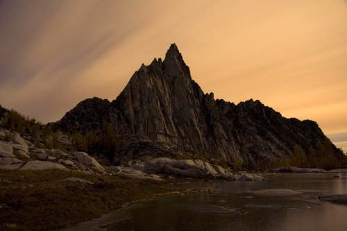 Prusik Peak before storm