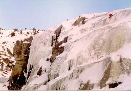Having fun on Tokopah Icefall