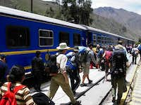 Getting Off the Train in Ollantaytambo