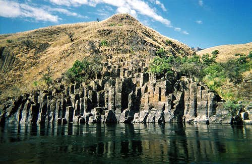 Lower Salmon River Canyons (ID) - Molten Basalt Columns Formation