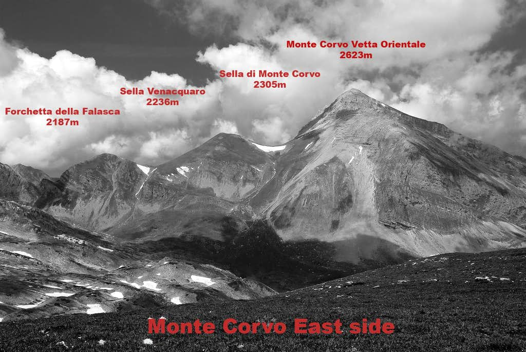 Monte Corvo east side (topo)