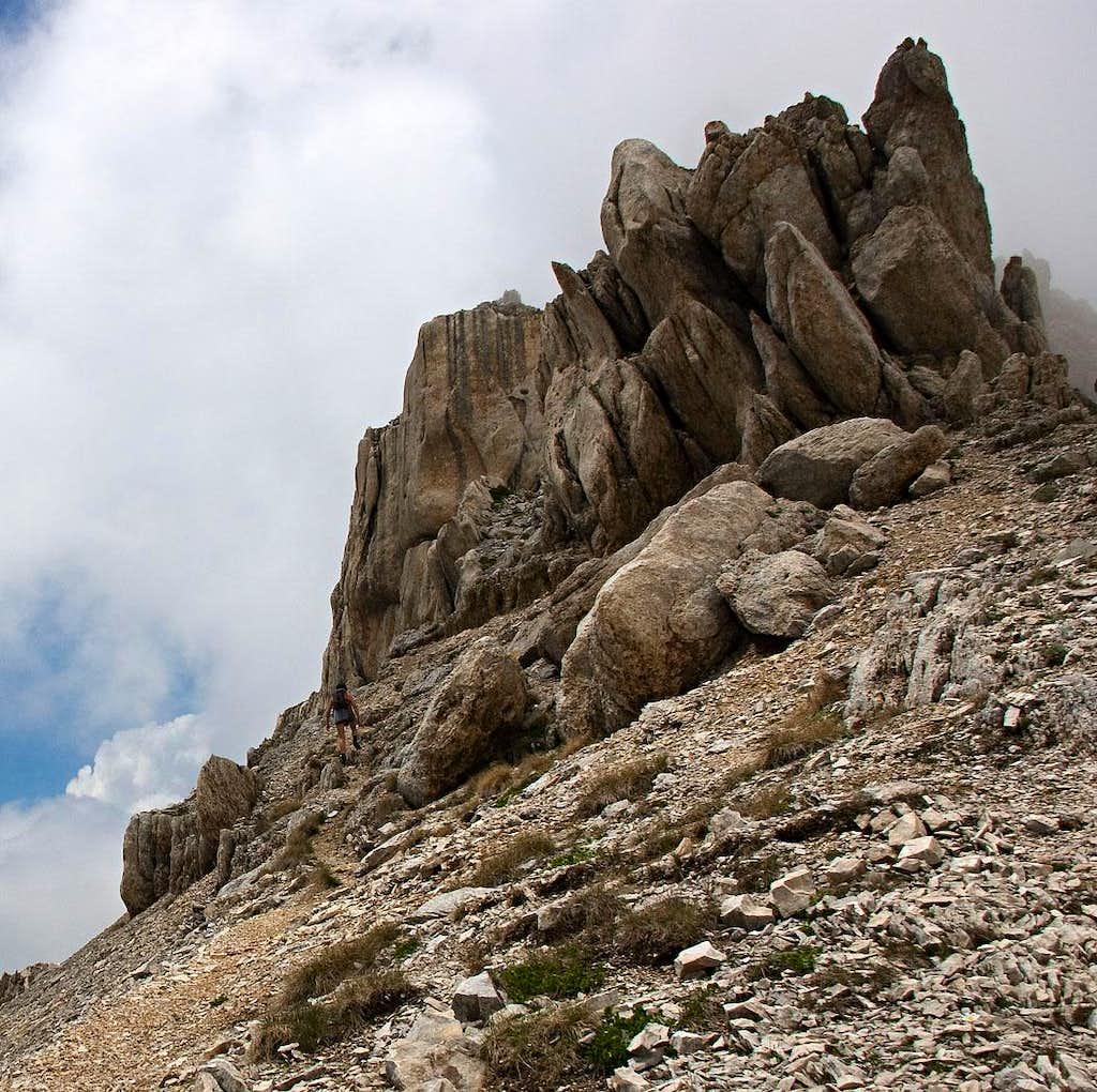 On Monte Corvo south ridge