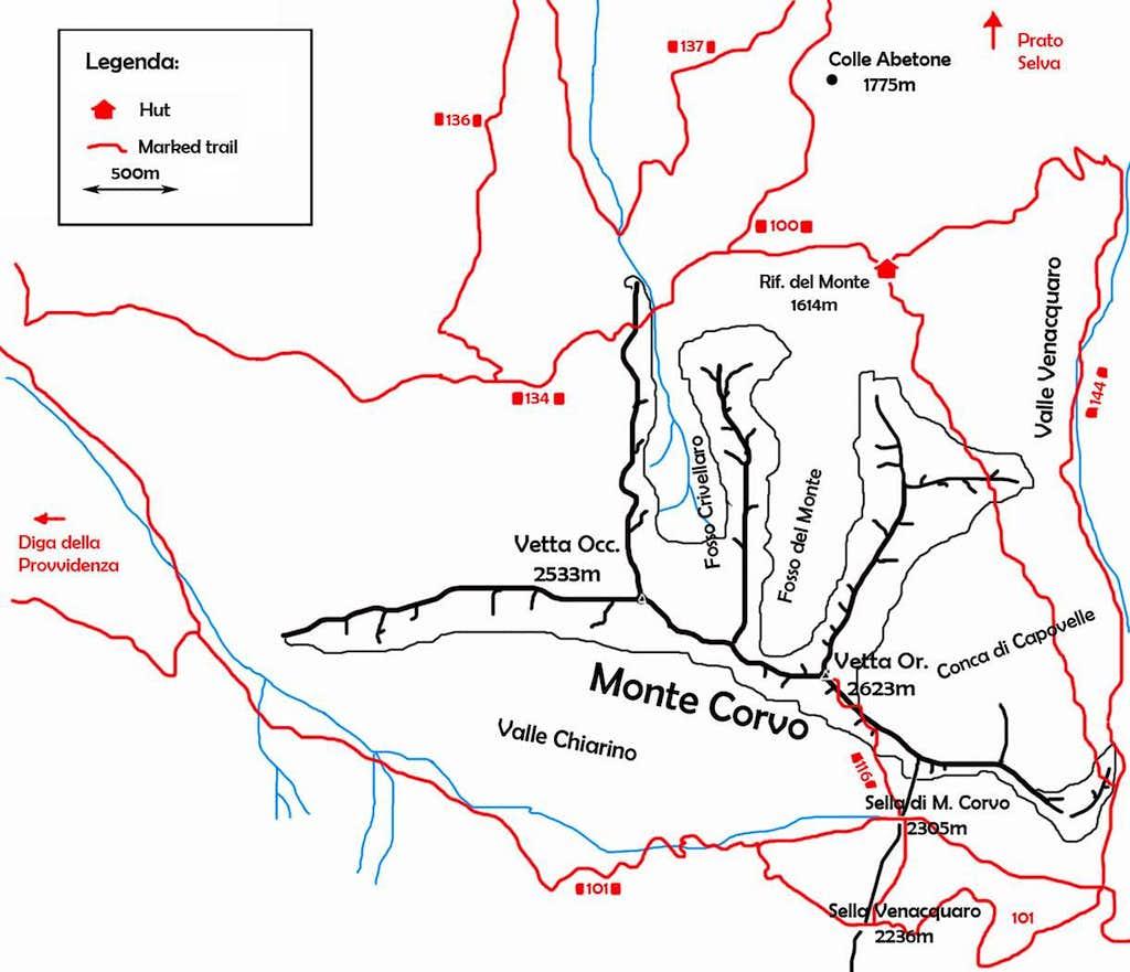 Monte Corvo map
