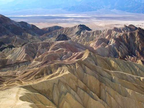 View west into Death Valley...