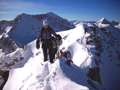 Red Baldy ridge traverse