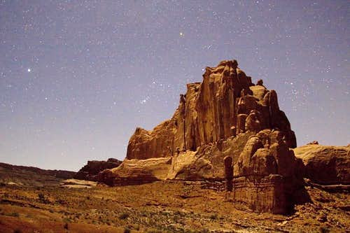 Orion over Arches National Park