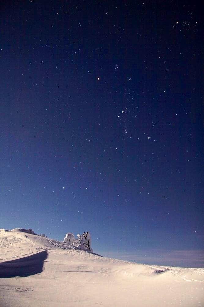 Orion over Mt. Baker backcountry ski area