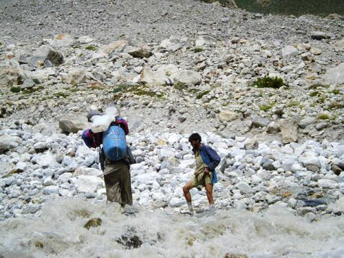 Porters Crossing the River