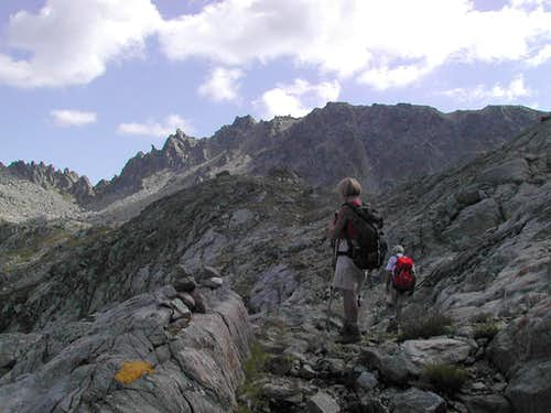 During the ascent to  Pietra Rossa lake <i>2559m</i>
