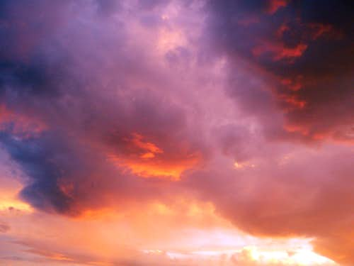 Firey sunset over Bridgeport Valley