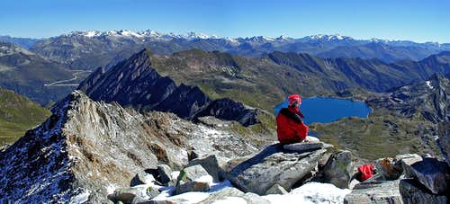 Cristallina summit panorama....