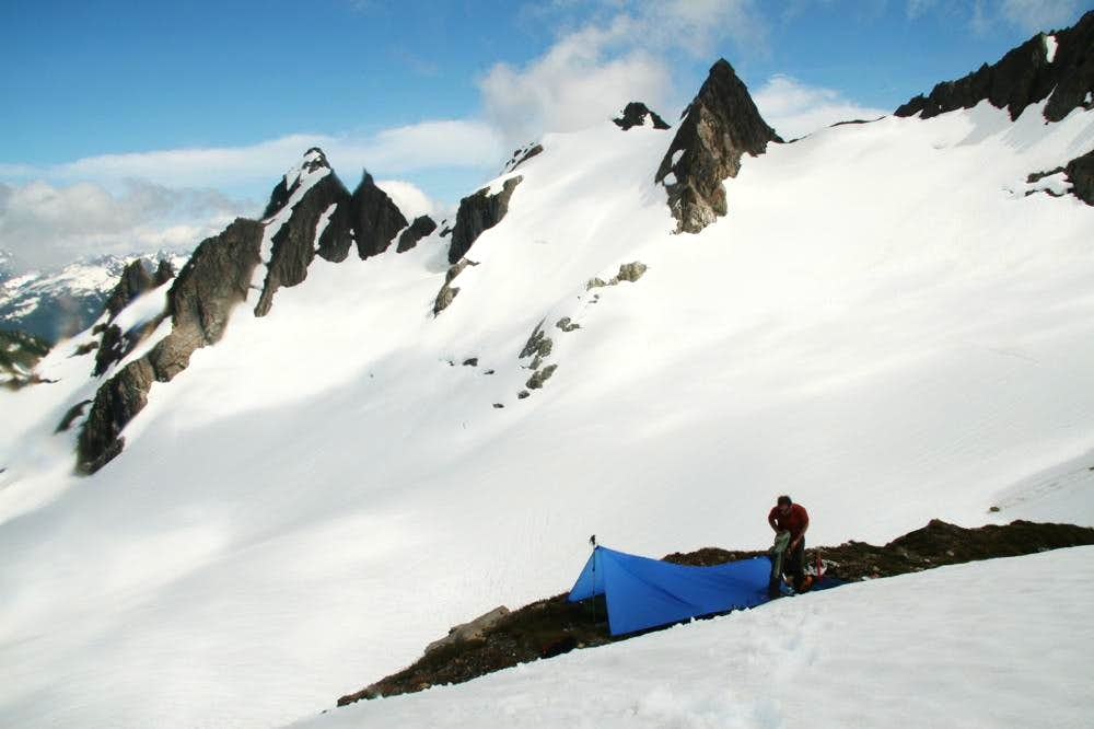 Camp in the Valhallas, Olympic Mtns