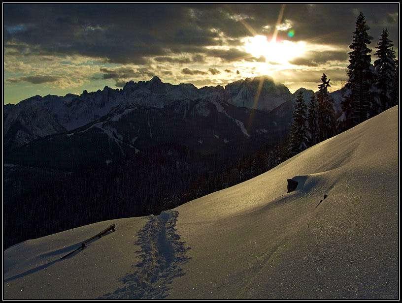 Sunset on Goriane/Gorjane/Goeriacher Berg