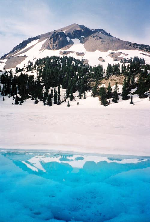 Lassen Peak over lake Helen
