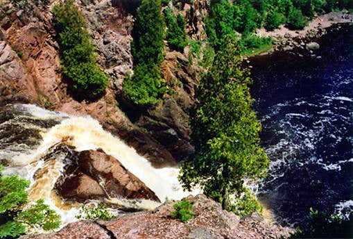 High Falls (from the top), Tettegouche State Park