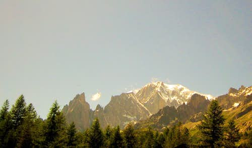 Mont Blanc from Val Ferret