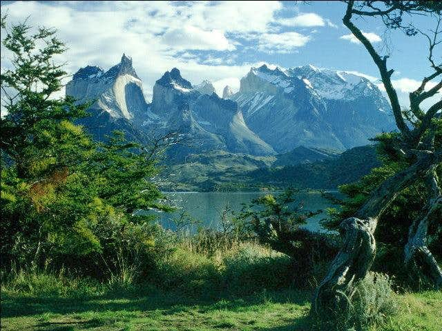 On Lago Pehoe: view of Los...