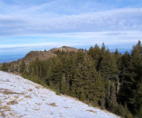 Looking North along the summit ridge