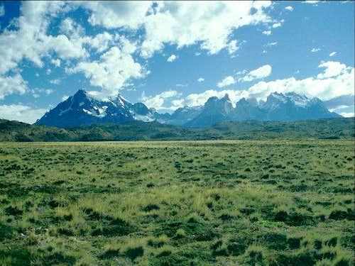 Distant view of Torres del...