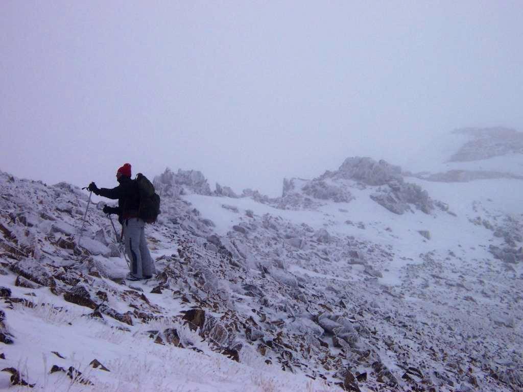 Summit Ridge in Bad Weather