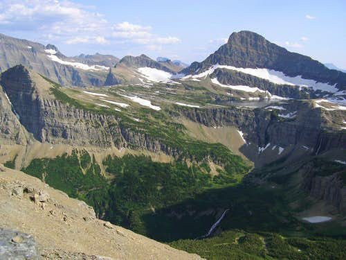 The view south from the traverse