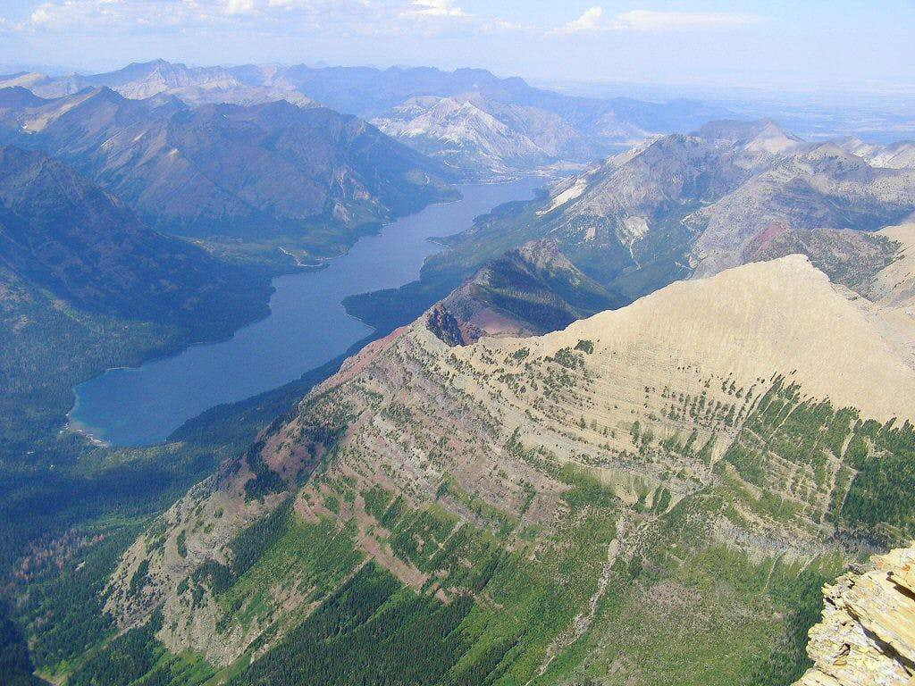 Waterton Lake from the Cleveland summit