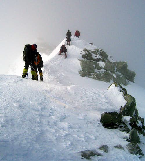 Summit ridge of Vinson