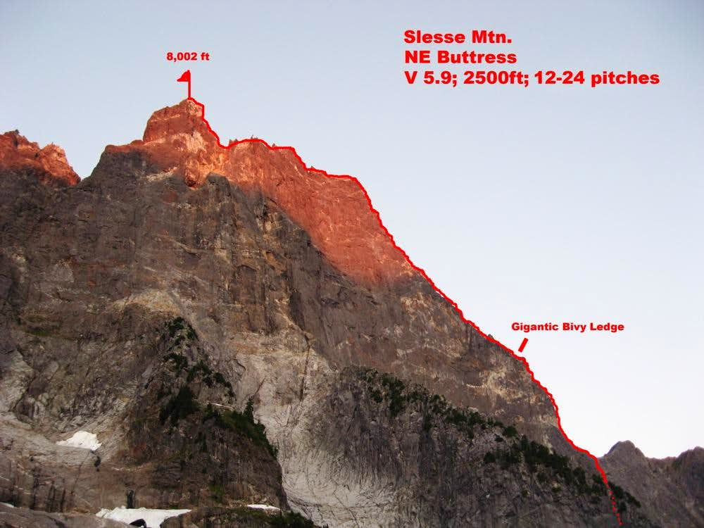 Northeast Buttress in a day, Mt. Slesse