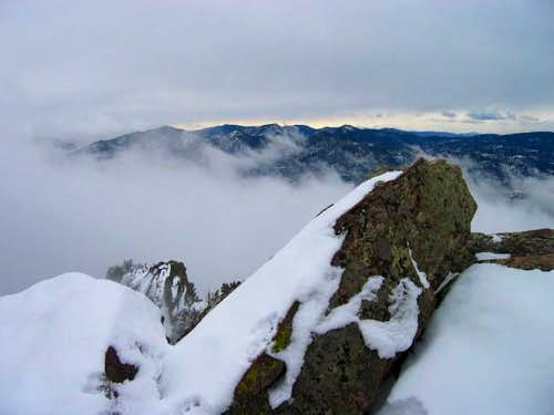 South Boulder Peak\'s summit...