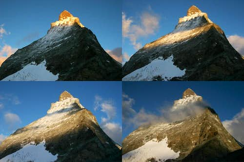 Sunrise on the Matterhorn from Hornli Hut