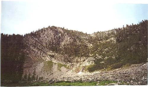 Here is the ridge (8,906')...