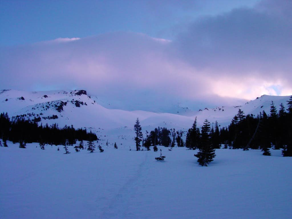 Dawn on the lower slopes of Mt. Shasta