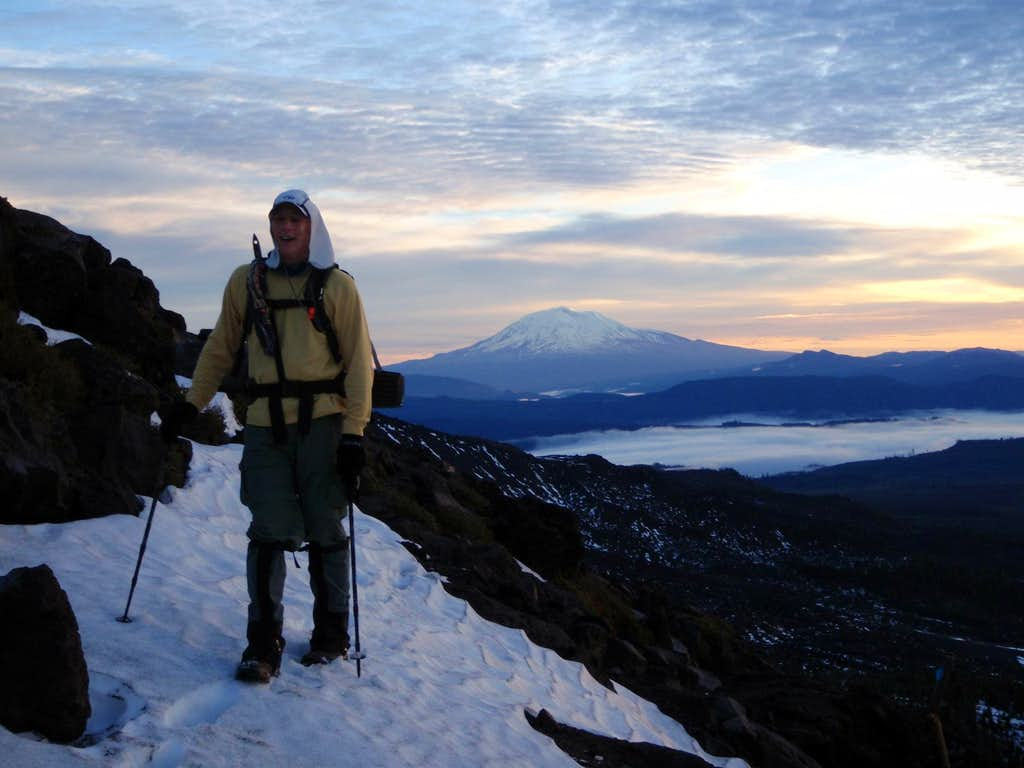 Dave and Mount Adams