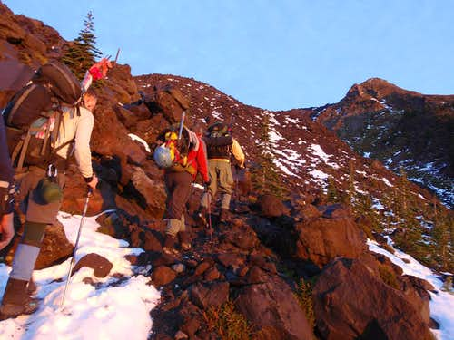 The Base of Monitor Ridge