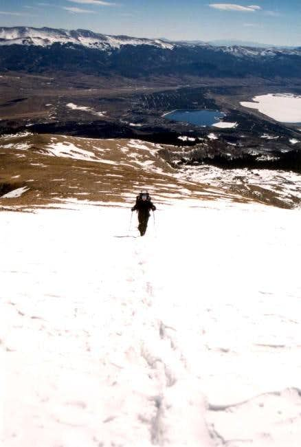 Ascending Mt Elbert