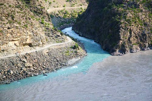 A view of Indus River from Karakoram Highway