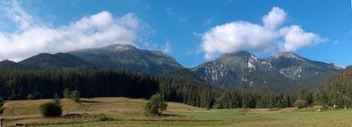 View from Ždiar to the <a href= http://www.summitpost.org/area/range/324758/belianske-tatry.html >White Tatras</a>