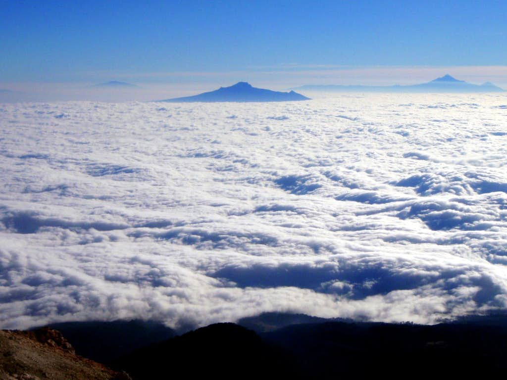Eastern Volcanoes above the sea of clouds
