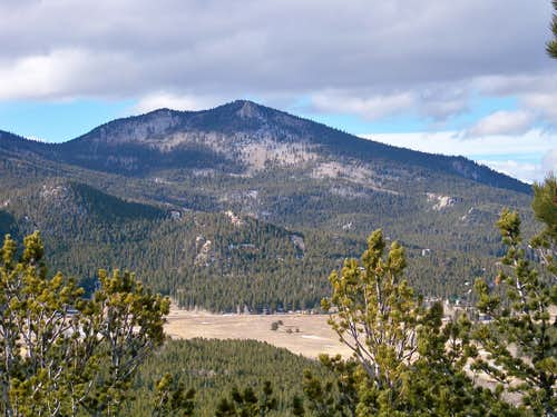 View northwest from the summit outcrop