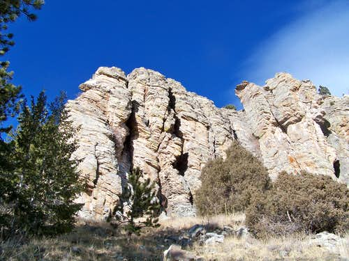 South slope rock outcrop #1