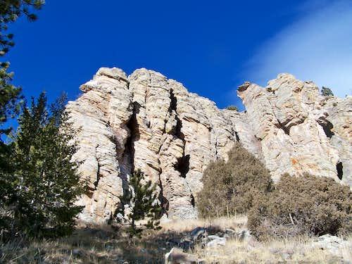 South slope rock outcrop #1