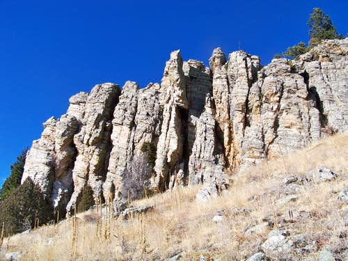 South slope rock outcrop #2